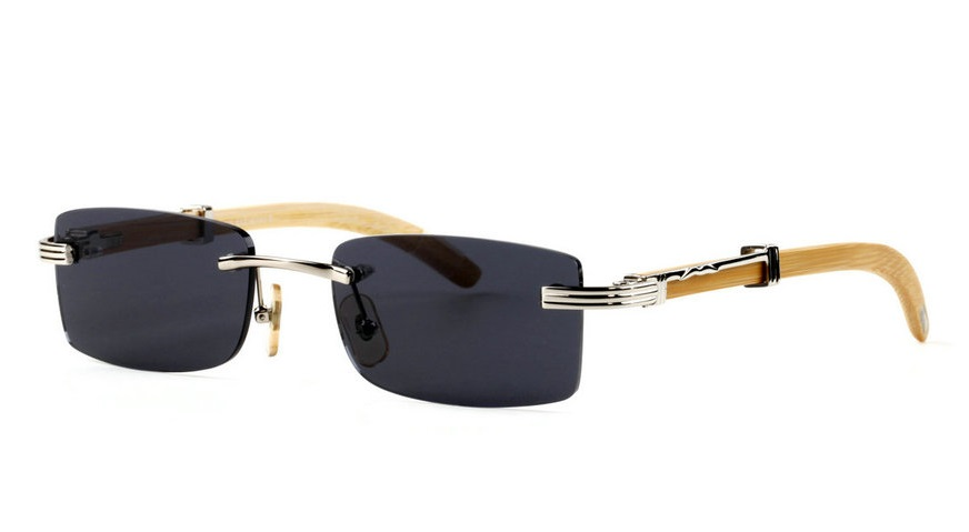Wholesale Cheap Cartier Bamboo Glasses Frames for Sale-020