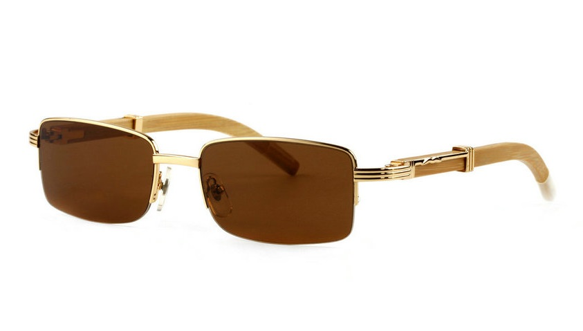 Wholesale Cheap Cartier Bamboo Glasses Frames for Sale-021