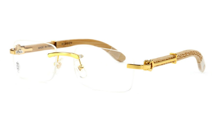 Wholesale Cheap Cartier Bamboo Glasses Frames for Sale-026