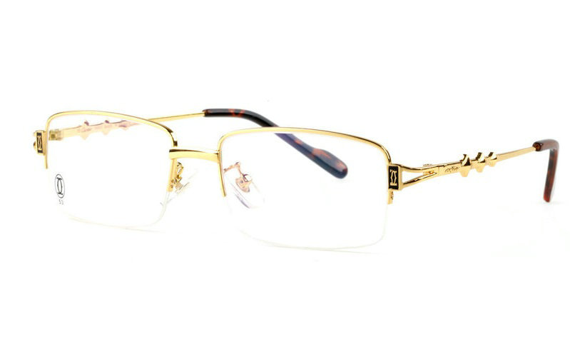 Wholesale Cartier Metal Half Rim Replica Glasses Frame for Sale-015