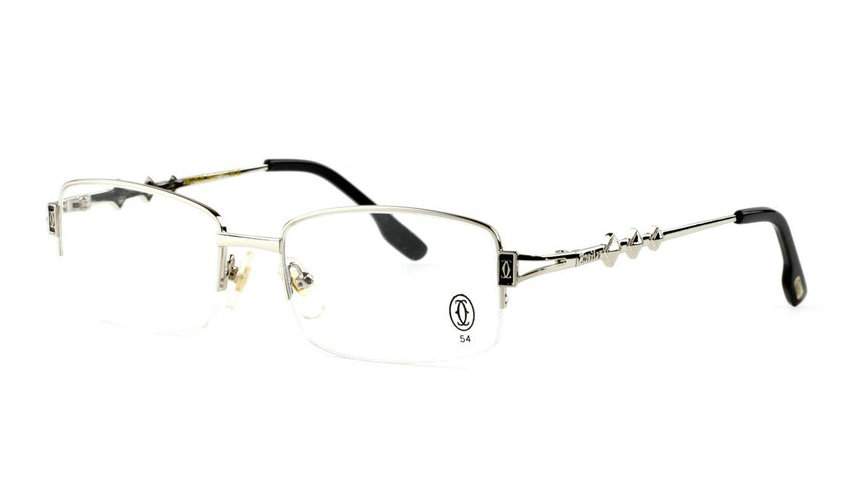 Wholesale Cartier Metal Half Rim Replica Glasses Frame for Sale-016