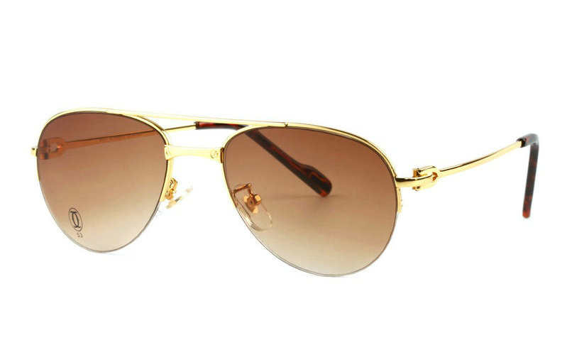 Wholesale Cartier Metal Half Rim Replica Eyeglasses for Sale-017