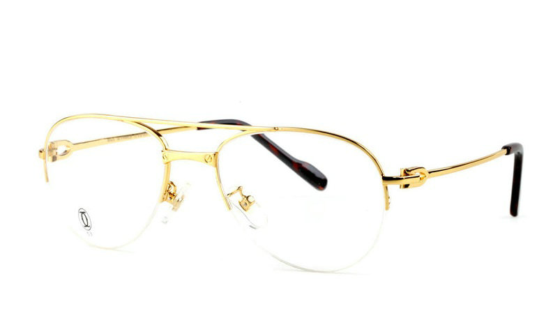 Wholesale Cartier Metal Half Rim Replica Glasses Frame for Sale-018