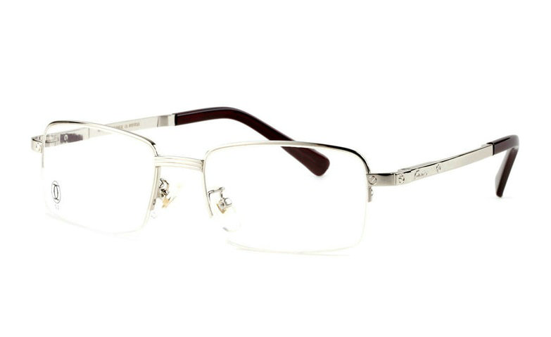 Wholesale Cartier Metal Half Rim Replica Glasses Frame for Sale-019