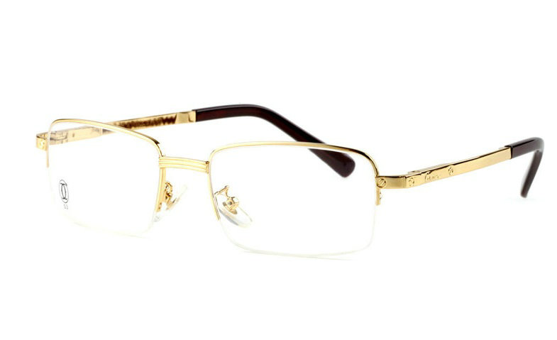 Wholesale Cartier Metal Half Rim Replica Glasses Frame for Sale-020