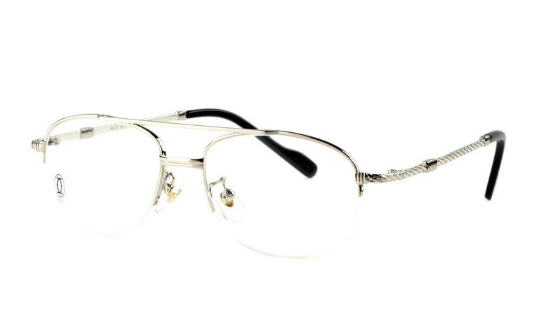 Wholesale Cartier Metal Half Rim Replica Glasses Frame for Sale-021