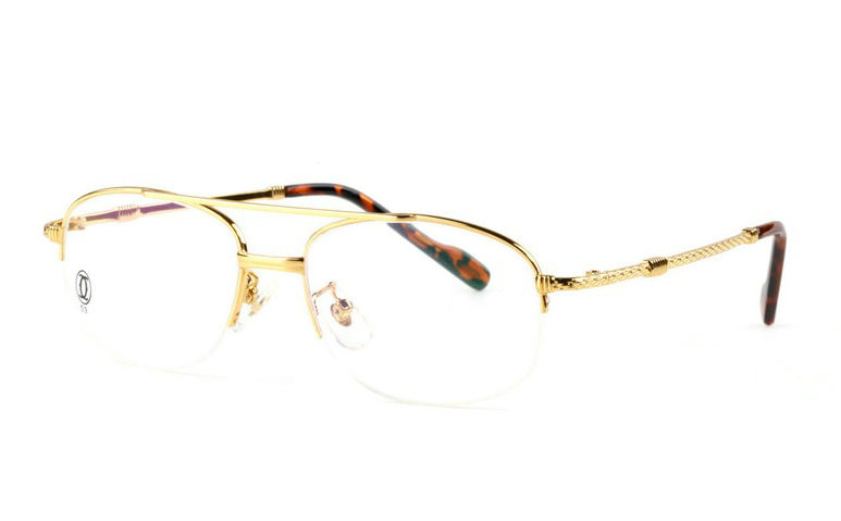 Wholesale Cartier Metal Half Rim Replica Glasses Frame for Sale-022