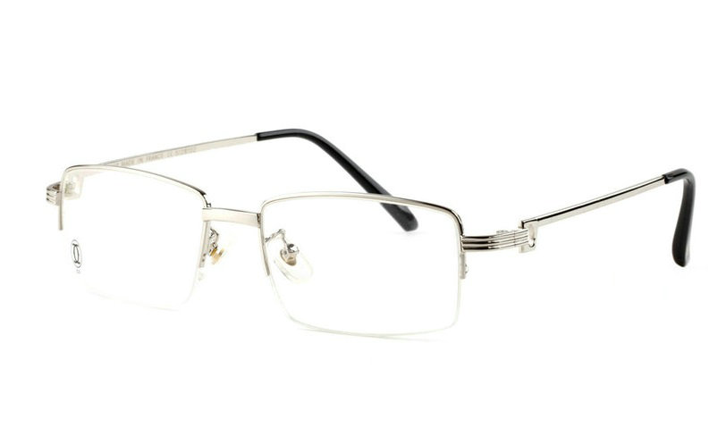Wholesale Cartier Metal Half Rim Replica Glasses Frame for Sale-023