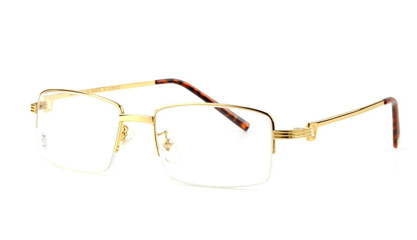 Wholesale Cartier Metal Half Rim Replica Glasses Frame for Sale-024
