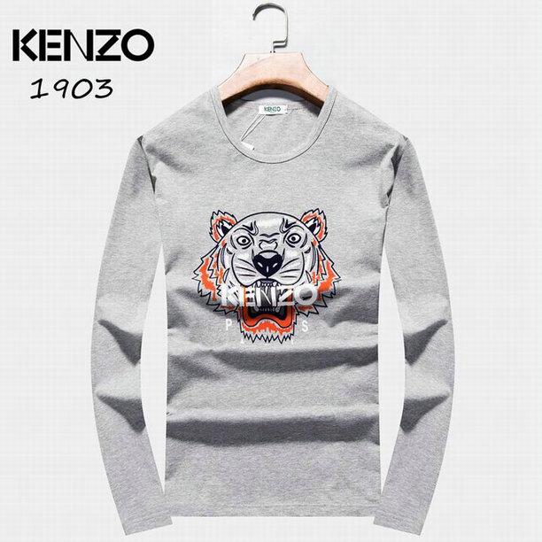 Wholesale Kenzo Long Sleeve t shirts For Men-001