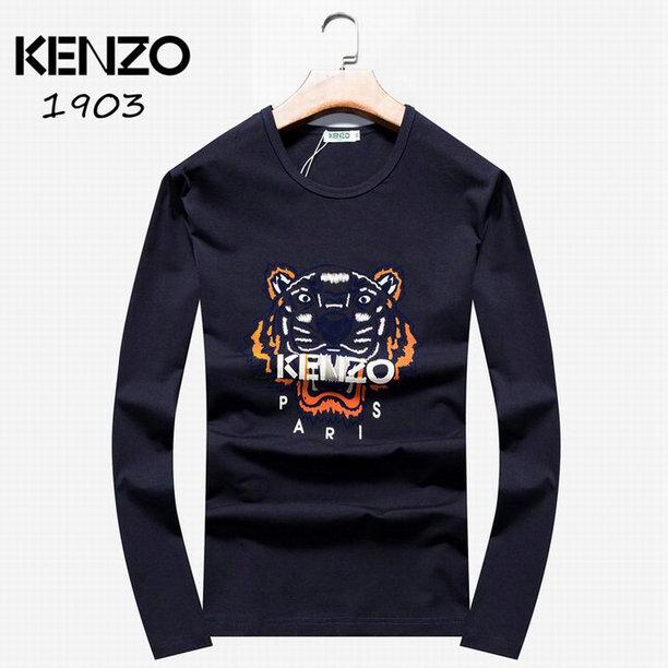 Wholesale Kenzo Long Sleeve t shirts For Men-003