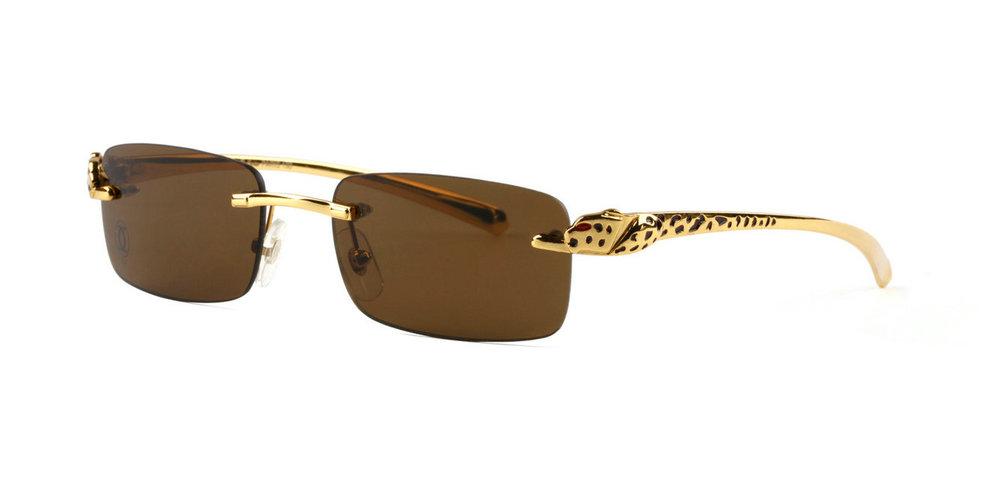 Wholesale Cheap Panthere de Cartier Glasses Frames Replica for Sale-035