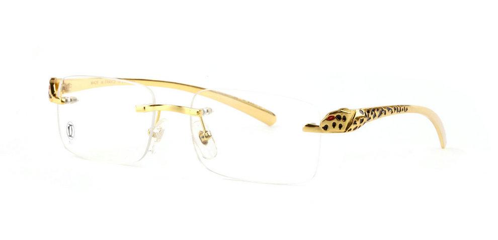 Wholesale Cheap Panthere de Cartier Glasses Frames Replica for Sale-037
