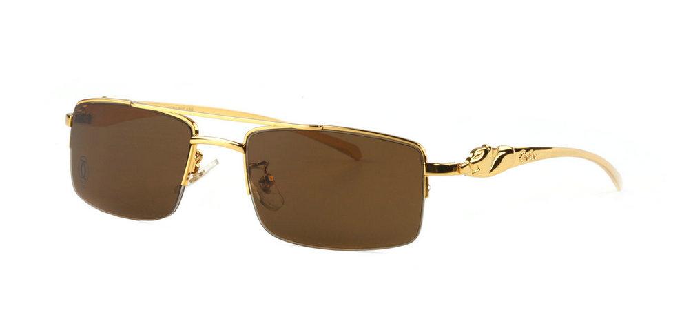 Wholesale Cheap Panthère De Cartier Half Frame Semi-Rimless Glasses for Sale-059