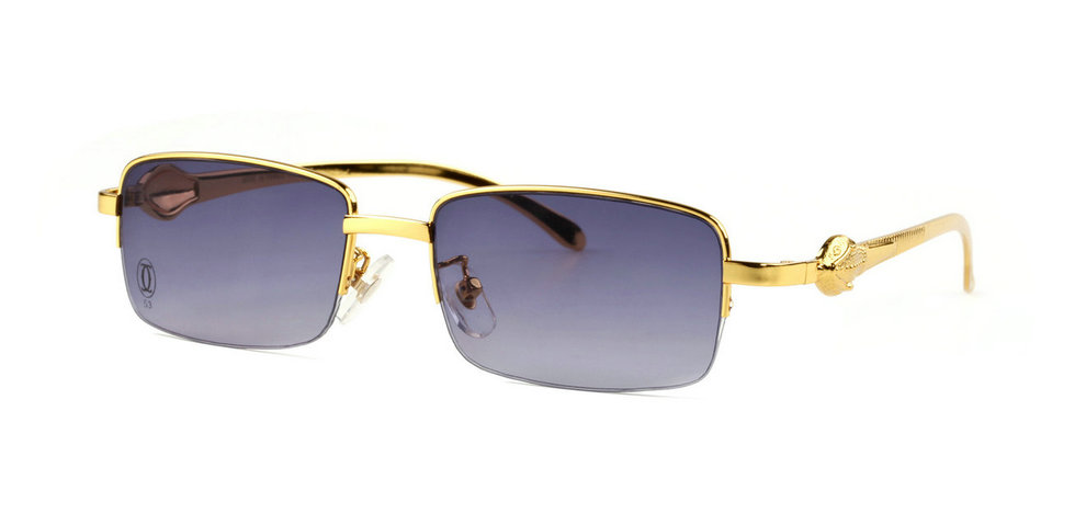 Wholesale Cheap Panthère De Cartier Half Rim Sunglasses Replica for Sale-061