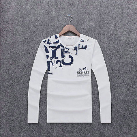 Wholesale Hermes Long Sleeve Round Collar T Shirts-001