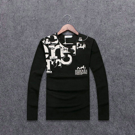 Wholesale Hermes Long Sleeve Round Collar T Shirts-002