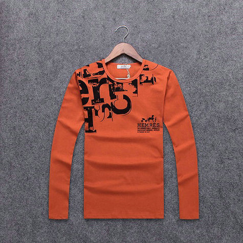 Wholesale Hermes Long Sleeve Round Collar T Shirts-003
